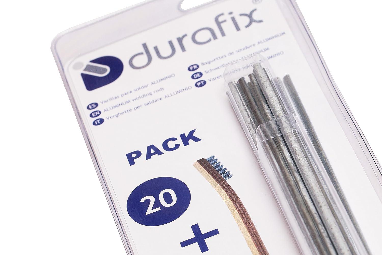 DURAFIX® - 20 Varillas para soldar aluminio + 1 Cepillo inoxidable: Amazon.es: Industria, empresas y ciencia