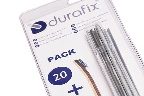 DURAFIX® - 20 Varillas para soldar aluminio + 1 Cepillo inoxidable