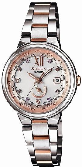5a41956805 CASIO カシオ シーンVoyage 腕時計SHEEN レディース Series世界6局電波対応ソーラーSHW-1700D-7AJF