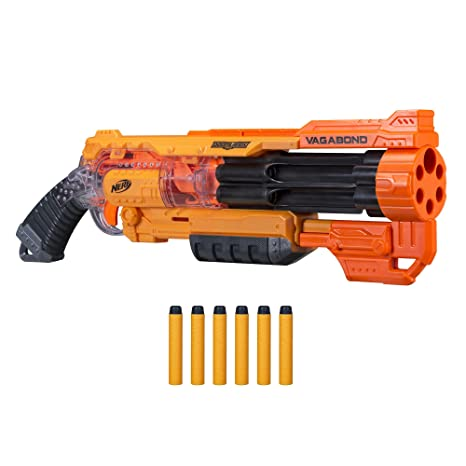 NERF Vagabond Doomlands Toy Blaster with Rotating 6-Dart Barrel & 6  Official Elite Doomlands Darts for Kids, Teens, & Adults (Amazon Exclusive)