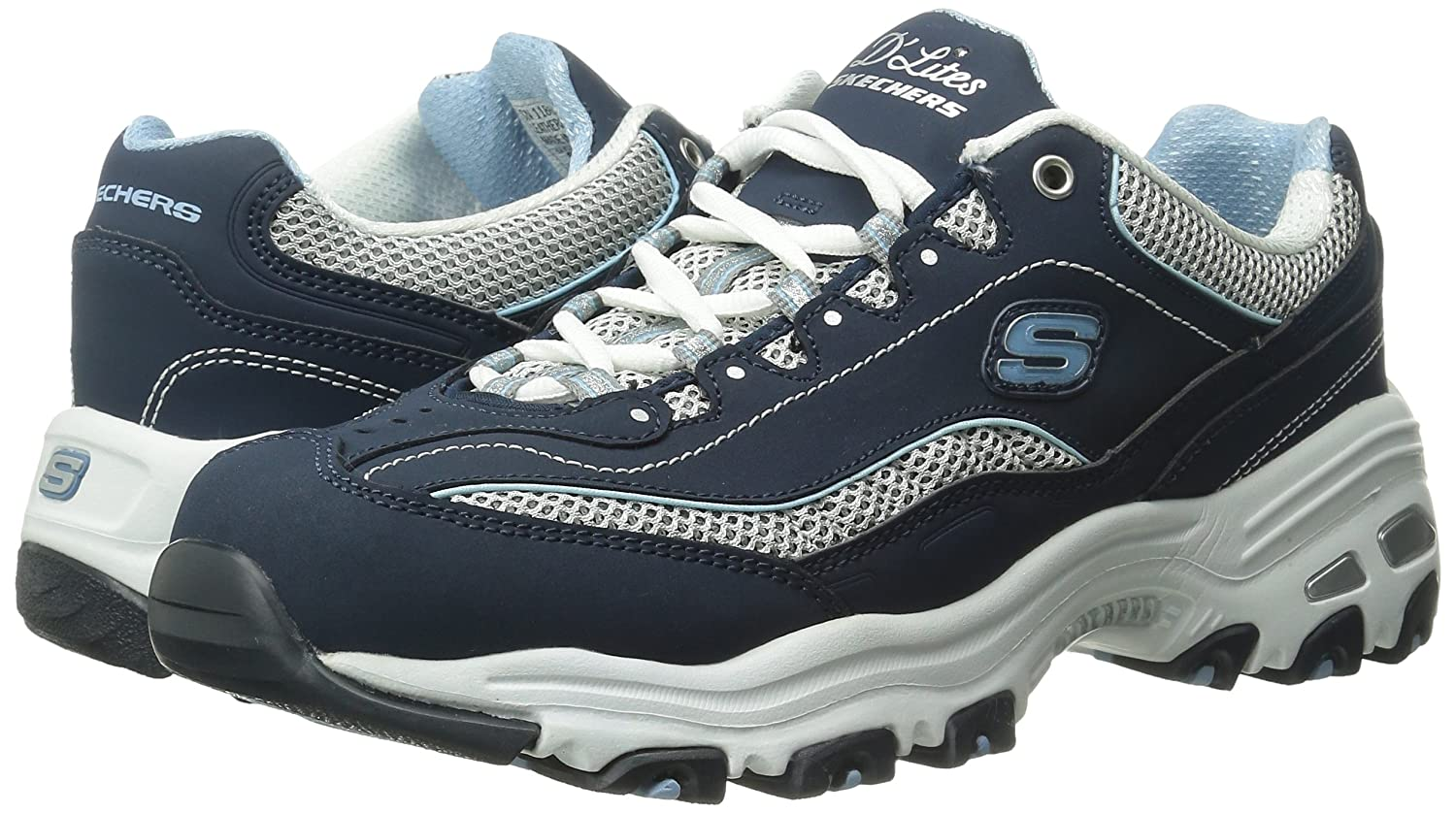 Skechers-D-039-Lites-Women-039-s-Casual-Lightweight-Fashion-Sneakers-Athletic-Shoes thumbnail 115