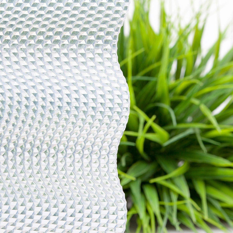 Profil 76//18 Material PVC Wabenstruktur Wellplatte Breite 1030 mm St/ärke 2,5 mm Lichtwellplatte Lichtplatte Farbe Glasklar