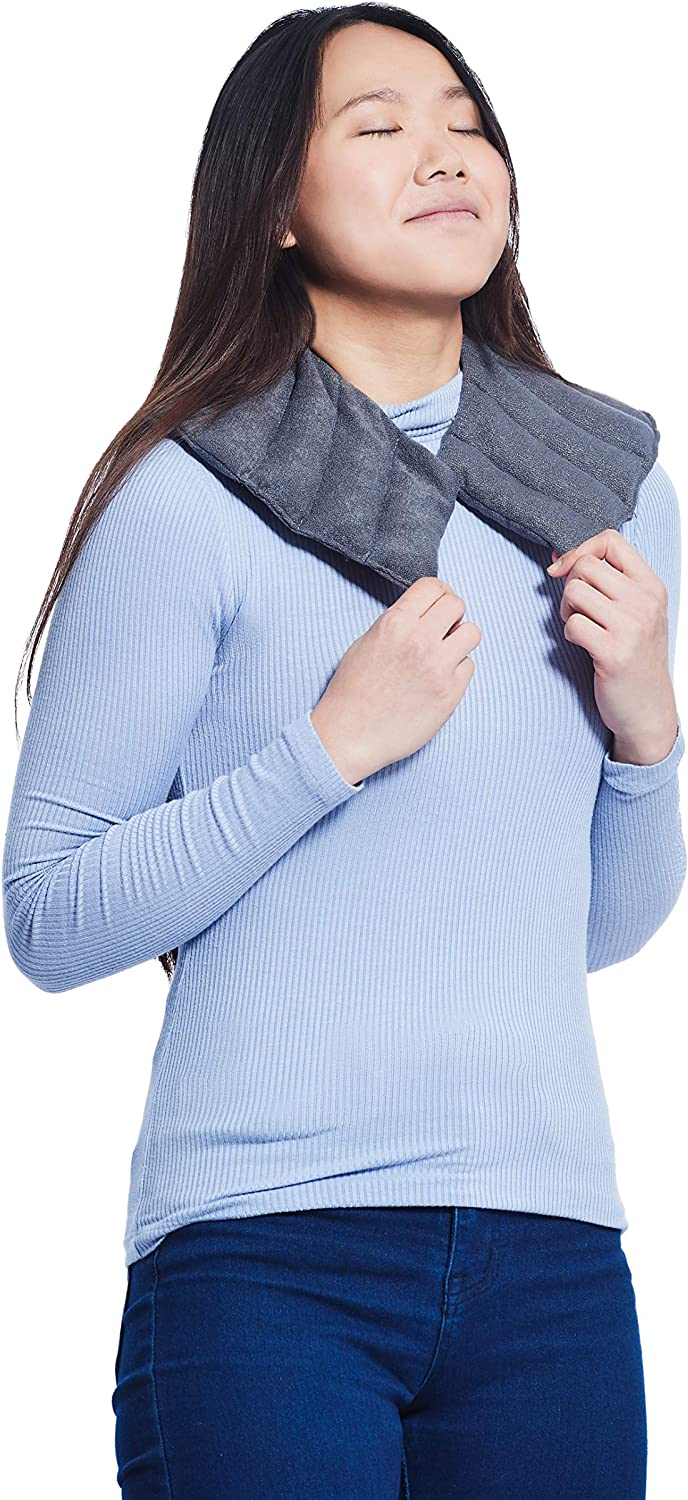 Yogibo Shoulder Wonder - Premium Heatable Shoulder and Neck Wrap - Deep Penetrating Hot or Cold Wrap for Migraines, Headaches, Sore Muscles, and Bruises - Reusable - Microwave and Freezer Safe [Brown]