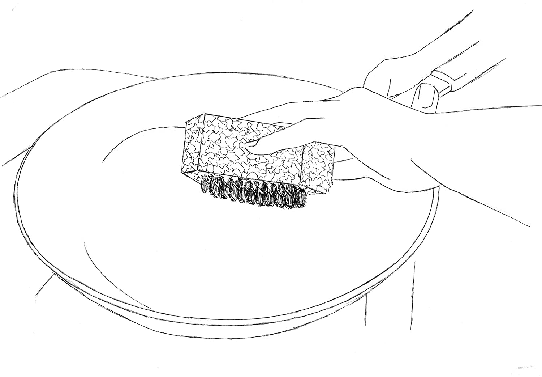 The Original Kitchen Clean-Up Accelerator Sponge Brush