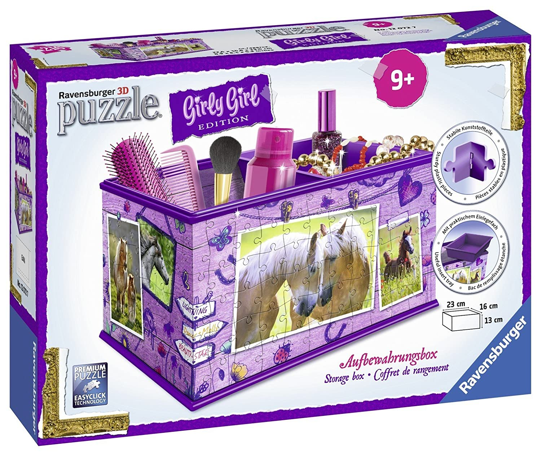 Ravensburger 12072 3D-Puzzle Girly Girl Edition Aufbewahrungsbox Pferde, 216 Teile Ravensburger Spielverlag 120727 Frühe Kindheit Frühkindliche Bildung