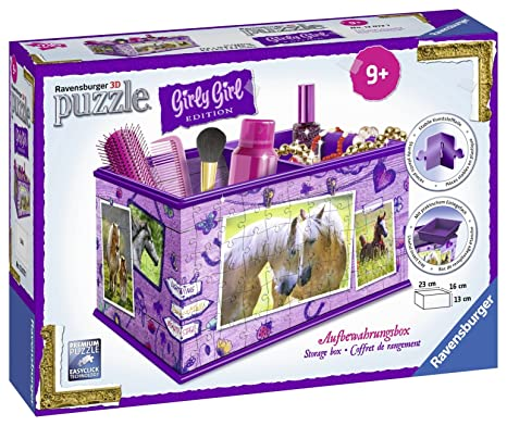 Puzzles & Geduldspiele 3d Puzzles Ravensburger 12075 Girly Girl Edition Utensilo Pferde 3d-puzzle