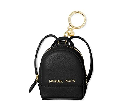 michael by michael kors rhea backpack black keyring charm one size rh amazon co uk
