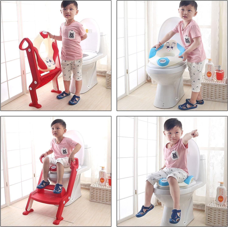 BabyHugs Orange /& Green 2 Step Baby Toilet Training Potty Step Stool Toddler Child Toilet Trainer Classic - Blue