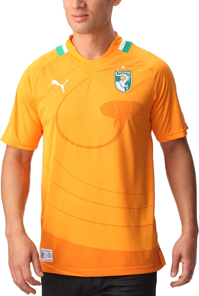 PUMA - Camiseta de fútbol Sala, tamaño XXXL, Color Naranja: Amazon ...