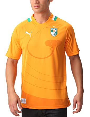 Puma - Camiseta de fútbol sala, tamaño L, color naranja