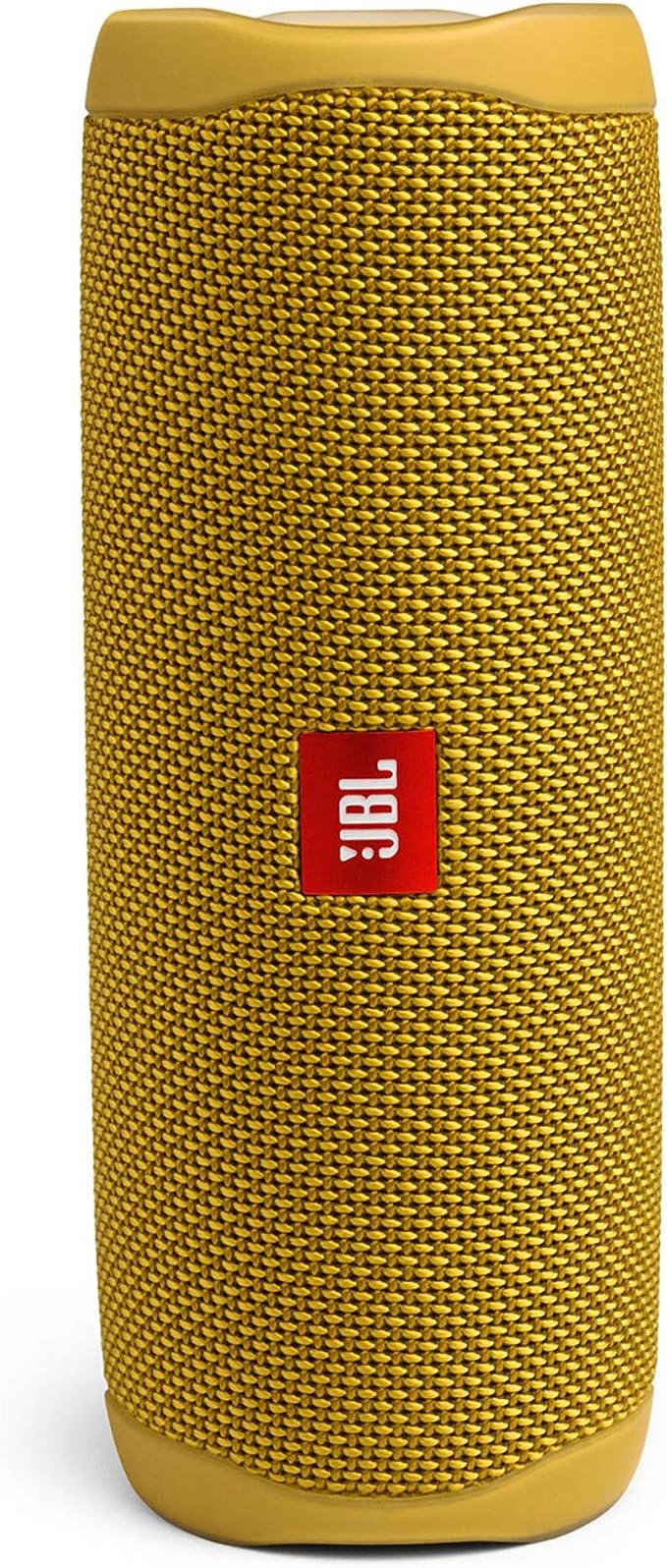 JBL Flip 5 - Altavoz inalámbrico portátil con Bluetooth, Amarillo