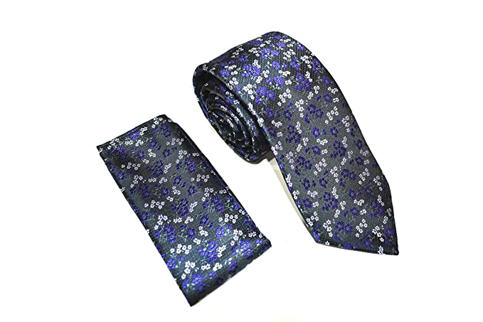 cca08ff2596b Marc Enzo Men's Tie and Pocket Square Set - Necktie With Matching  Handkerchief - Italian Design