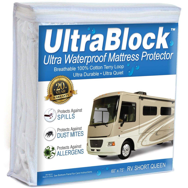 UltraBlock RV Short QueenWaterproof Mattress Protector ...