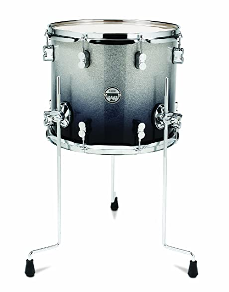 Pacific Drums PDCM1214TTSB 12 X 14 Inches Floor Tom With Chrome Hardware    Silver To Black