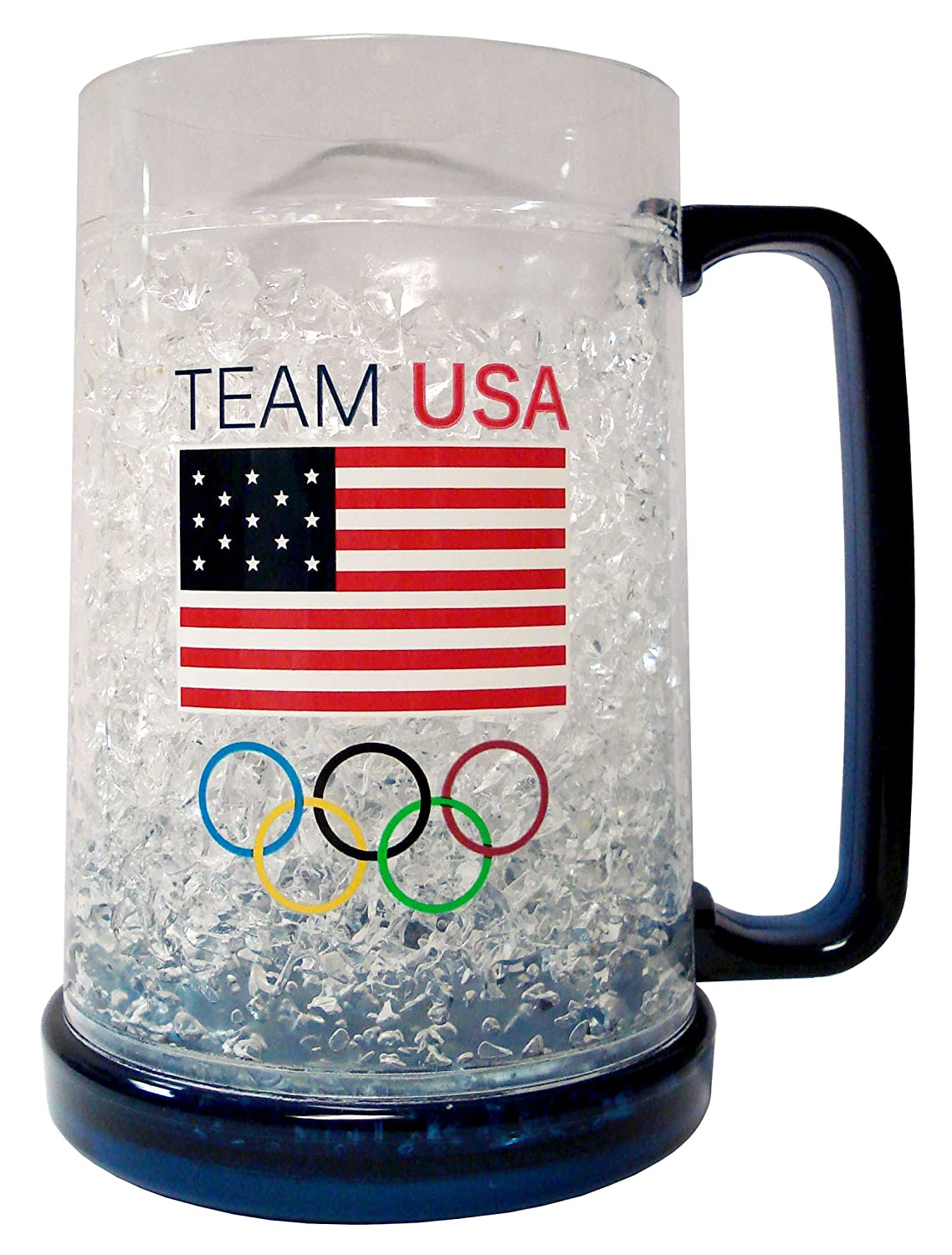 Duck House NCAA Team USA Crystal Freezer Mugs, White, 1 Piece, LCM731B