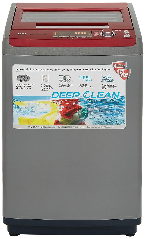 IFB 6.5 kg Fully-Automatic Top Loading Washing Machine (TL-SSDR 6.5KG AQUA, Sparkling Silver, Aqua Energie water softener)