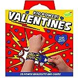 Peaceable Kingdom Kid Power Bracelet Valentines - 28 Card Pack