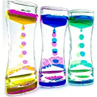 Qiwoo 3 Pack Liquid Motion Bubbler Timer, Stress Relief Sensory Toys for Kids Girls Boys Autistic Children ADD ADHD Relax Therapy Increase Focus Calm Office Desk Decoration Halloween Party Favors