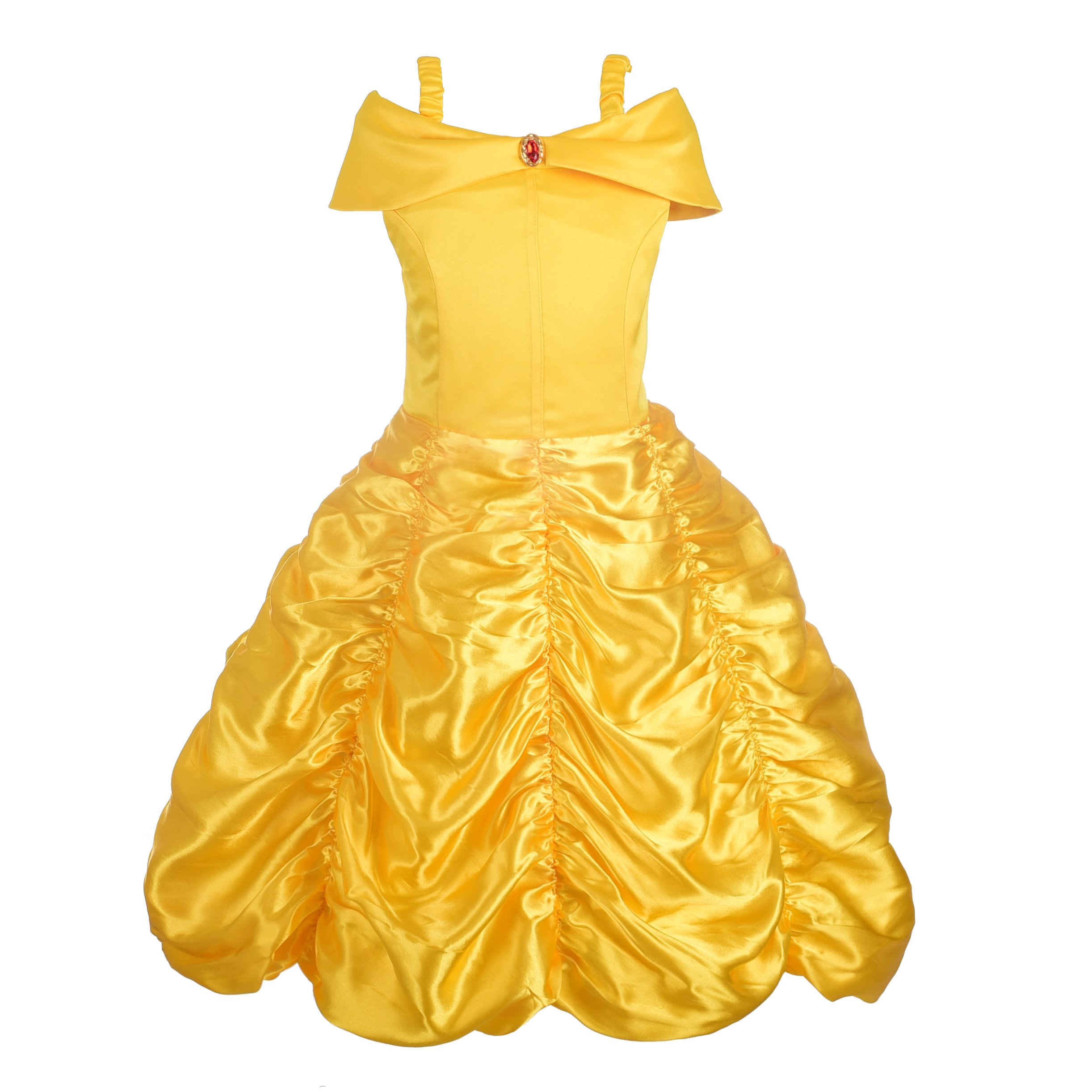 Dressy Daisy Baby Girls' Princess Belle Costumes Princess Dress up Halloween Costume Size 18-24 Months