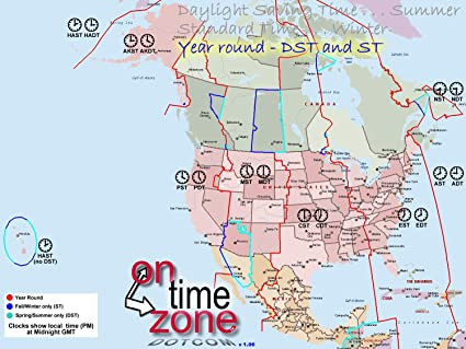 Amazon.com: Home Comforts Laminated Map - OnTimeZone Com ...