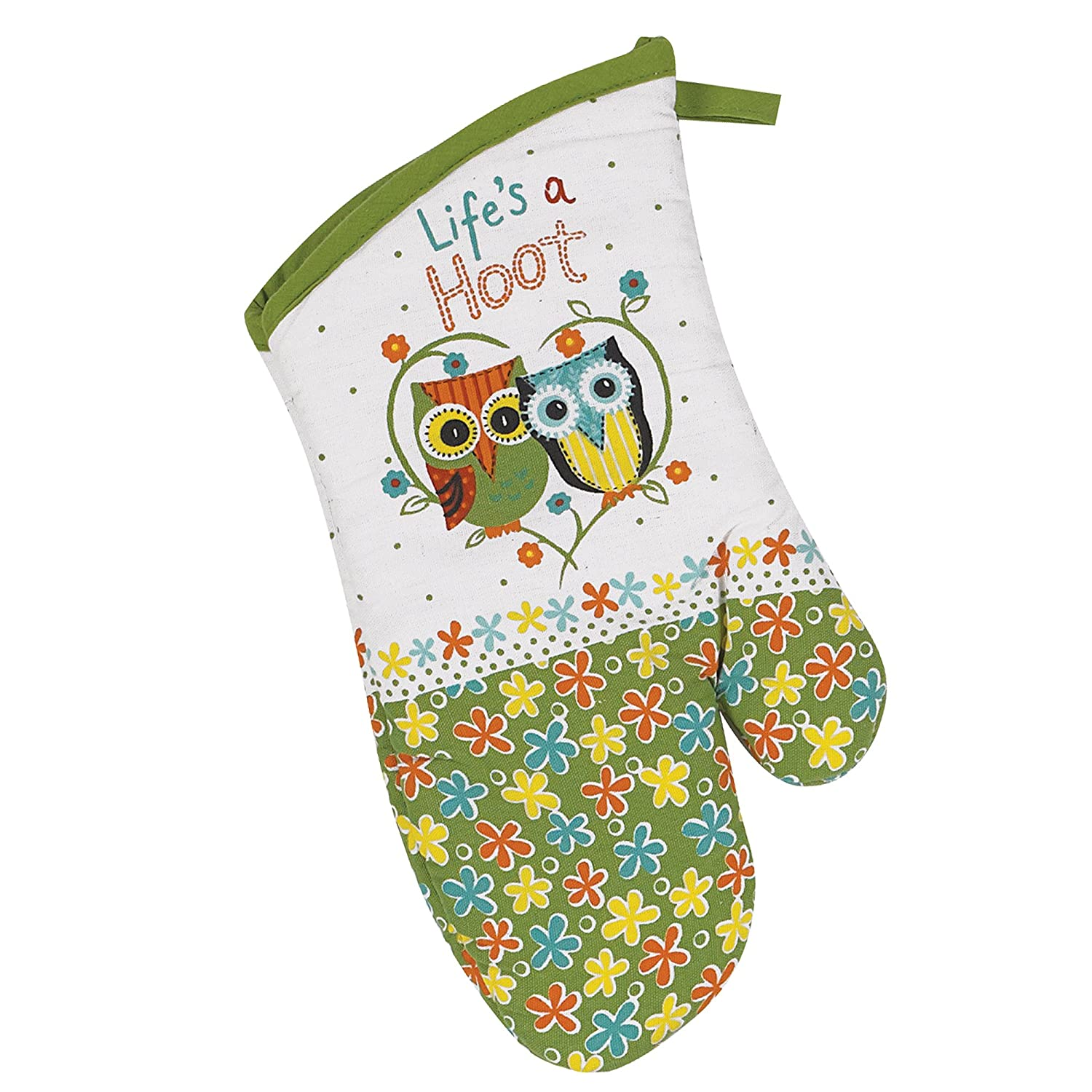 Kay Dee Designs Cotton Oven Mitt, Life's A Hoot