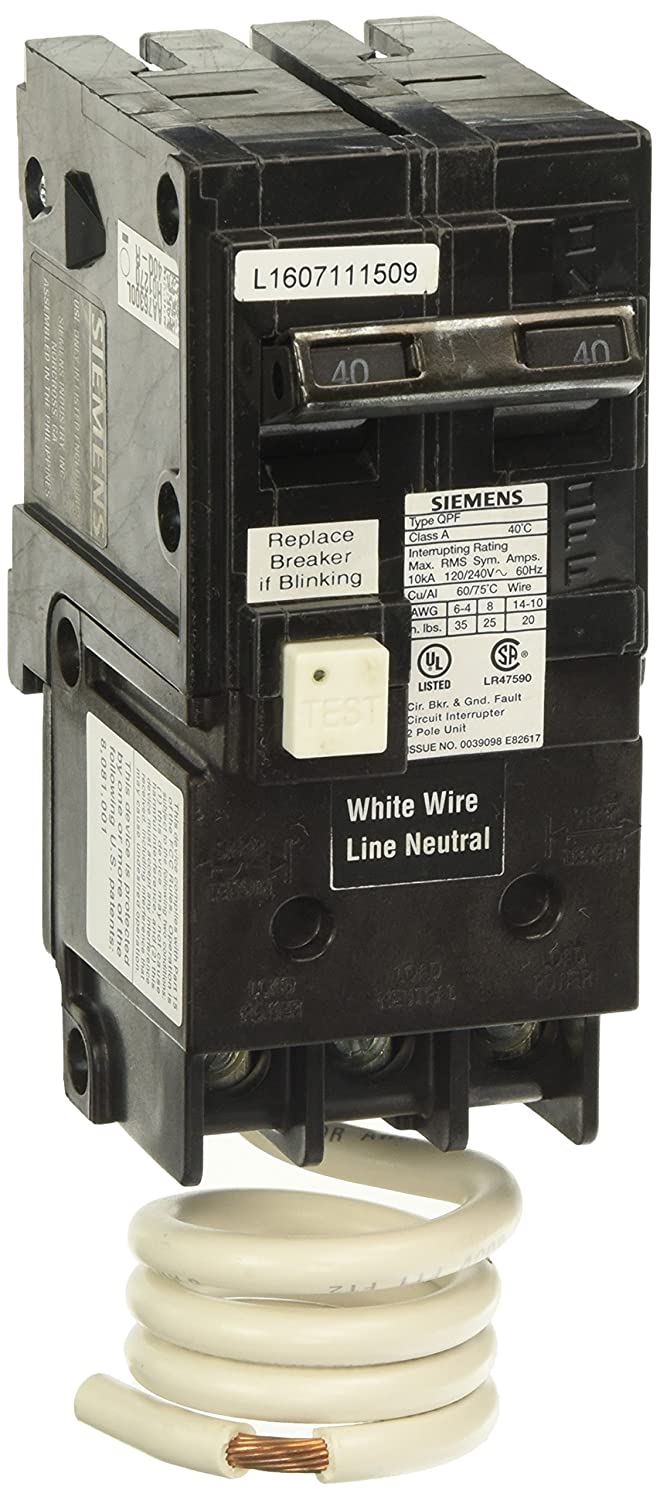 Siemens Qf240a Ground Fault Circuit Interrupter 40 Amp 2 Pole Interrupters 120v 10 000 Aic