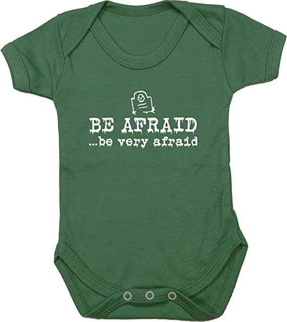 Short Sleeve Boys Girls Hippowarehouse Be Afraid .be Very Afraid Baby Vest Bodysuit