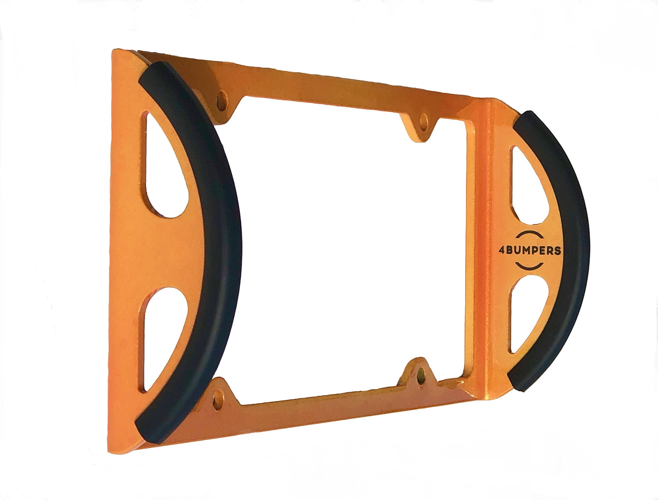 4Bumpers® Duo - The Best Solid Steel License Plate Frame Bumper Protector (Limited Edition Orange)
