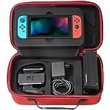 Nintendo Switch 収納バッグ - ATiC Nintendo Switch 2017 専用 高品質なEVA製 大容量 全面保護型 収納バッグ RED