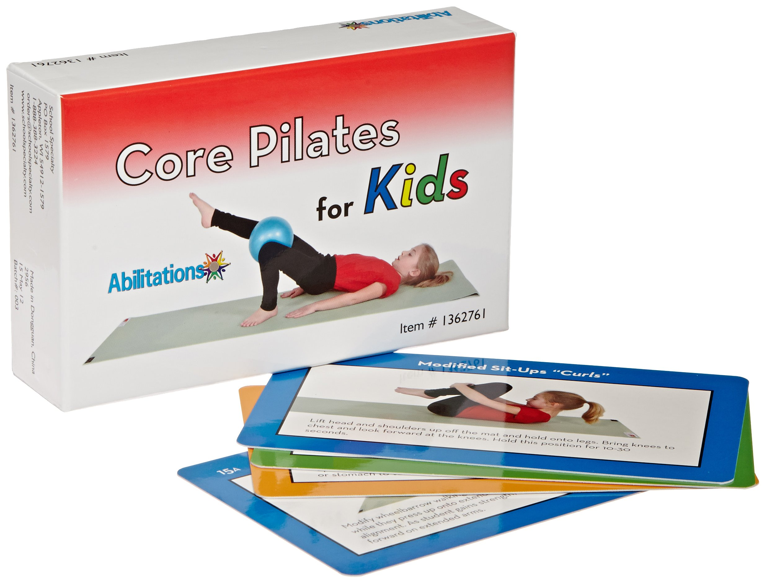 Sportime Core Pilates for Kids Exercise Cards, Set of 56 - 1362761 by Sportime