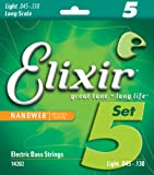Elixir 14202 Electric Bass Saiten 5 Light Long Scale Nanoweb Coating