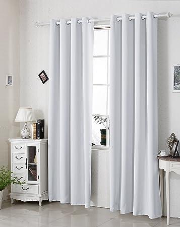 amazon.de: woltu #329, gardine vorhang blickdicht mit Ösen schwere ... - Vorhange Wohnzimmer Weis