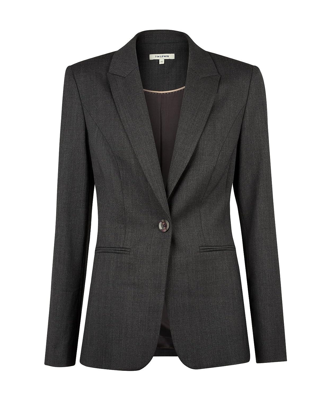 Blazer Sorrento in Grey Stretch Wool Fabric T.M.Lewin Women/'s Suit Jacket