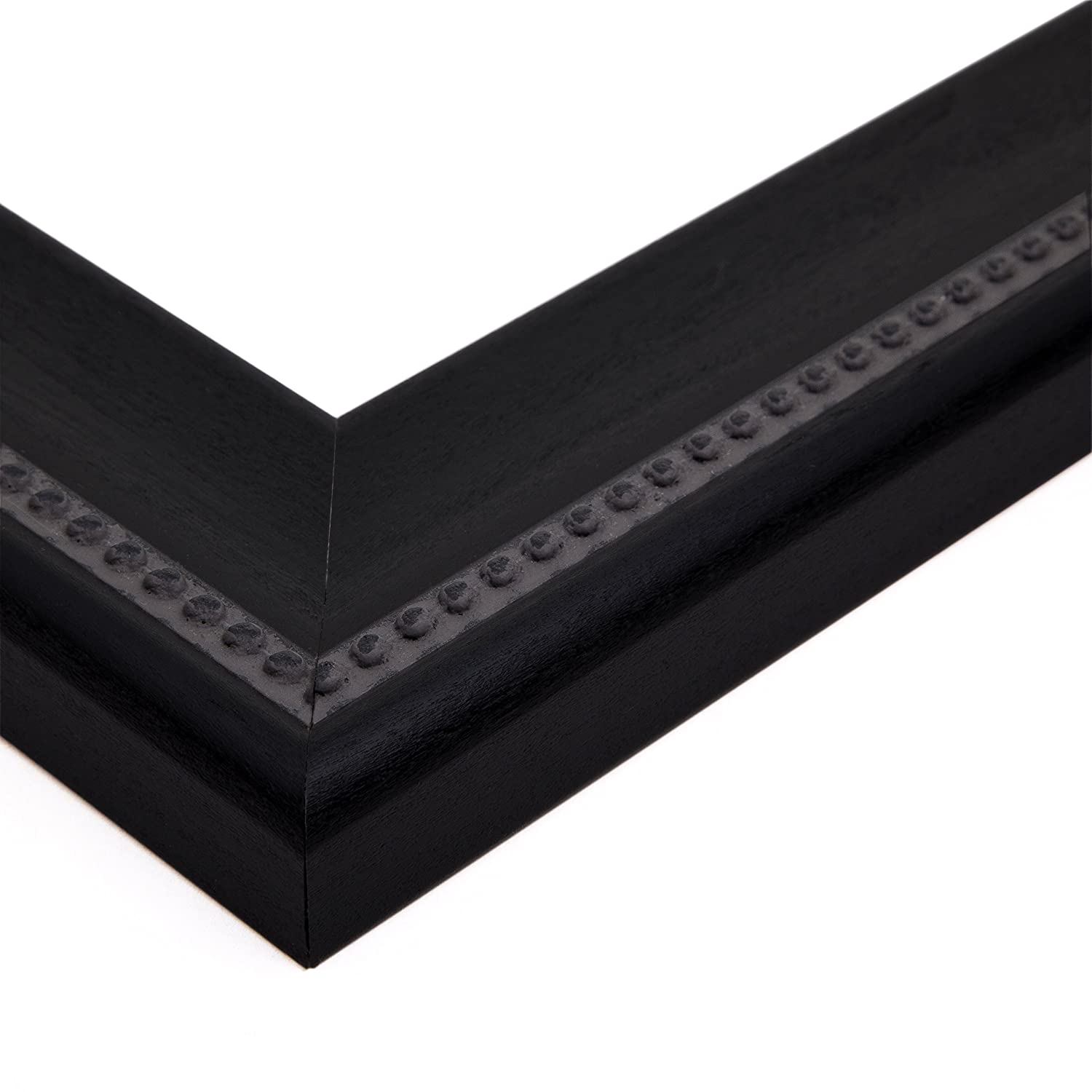 ArtToFrames 14x21 inch Matte Black Slope with Beaded Top Wood Picture Frame 2WOMM469520-14x21