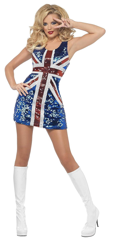Fiebre de Smiffy todo lo que brilla Rule Britannia Costume (Medio ...