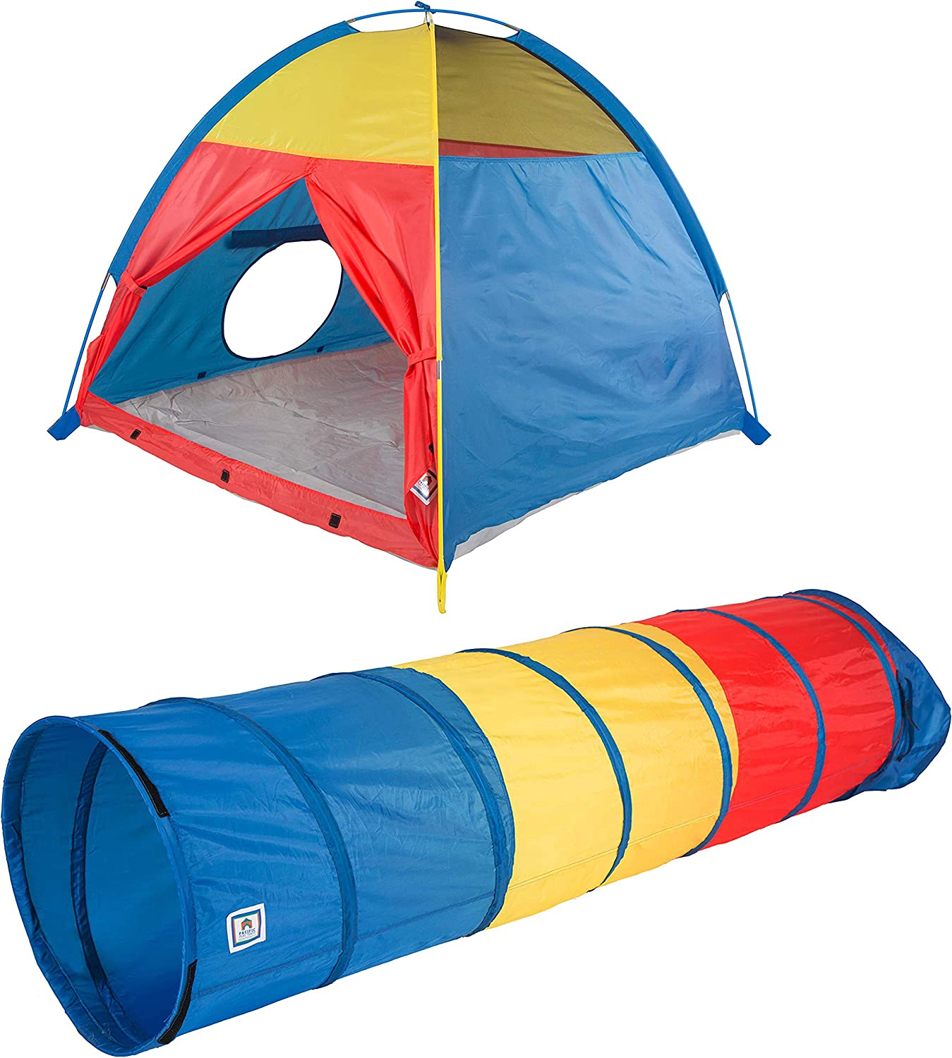 Pacific Play Tents Tri-Color Dome Tent and Tunnel