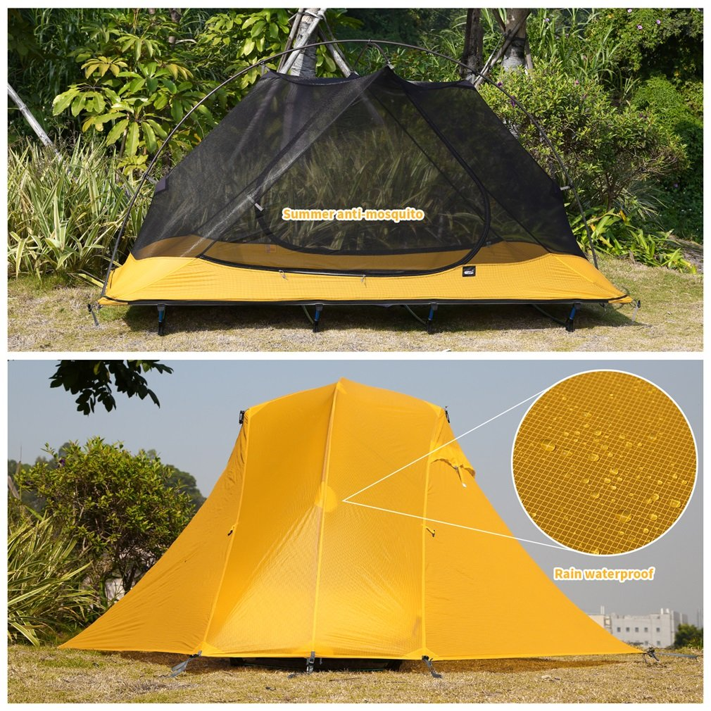 OUTAD Camping tents 15D nylon double-sided silicone tents Portable Multifunctional Off Ground Tent by OUTAD (Image #9)
