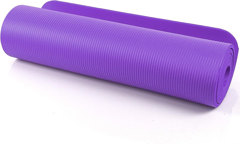 SeMa Sports & Outdoor–Extra Suave–Esterilla de Fitness para Yoga, Pilates y Gimnasia–183x 60cm, Grosor: 1cm