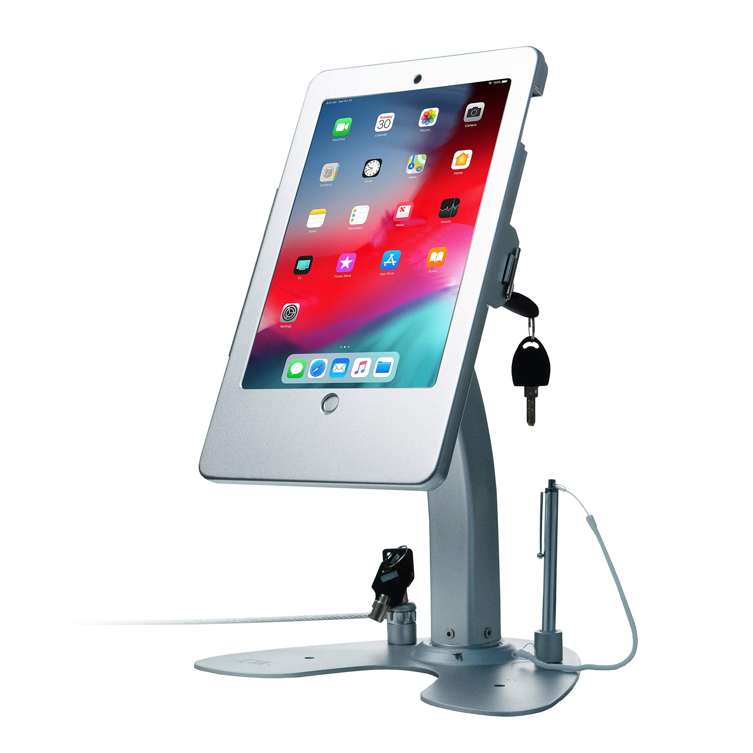 CTA Digital PAD-ASK  Dual Security Kiosk Stand with Locking Case and Cable for iPad Gen. 5 (2017), iPad Gen. 6 (2018), iPad Air, and iPad Pro 9.7 by CTA Digital