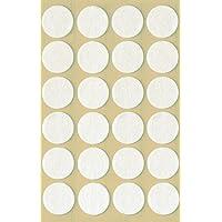 AVERY Zweckform 3707 viltglijders zelfklevend (diameter 18 mm, 1 mm dik) 24 etiketten wit