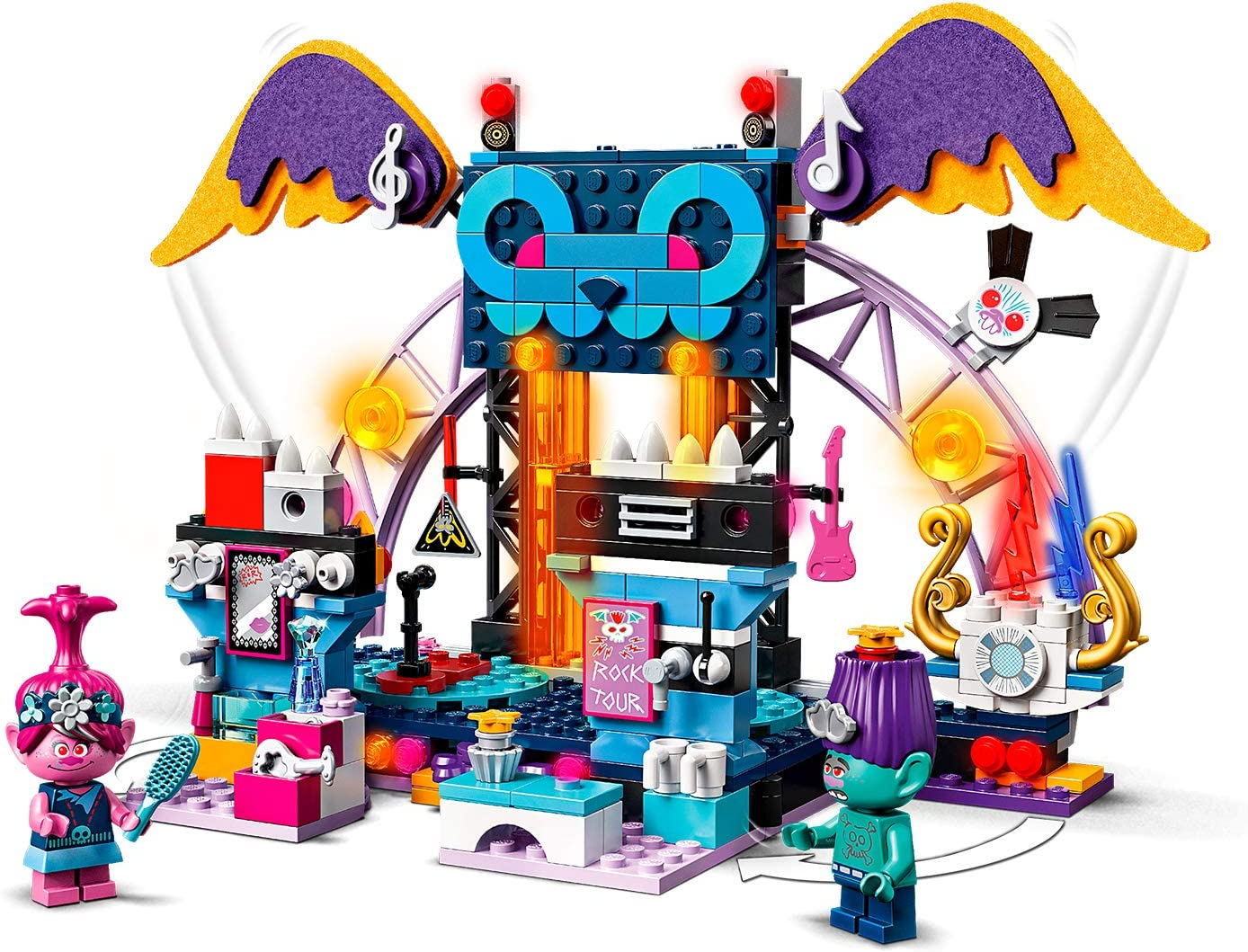 Music Scene and Guitars LEGO 41254 Trolls World Tour Volcano Rock City Concert Playset with Popy Branch and Barb