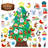 TOBEHIGHER Felt Christmas Tree - 3.5 FT Wall Felt Christmas Tree for Kids with 33 Pcs Ornaments, DIY Xmas Gifts for…
