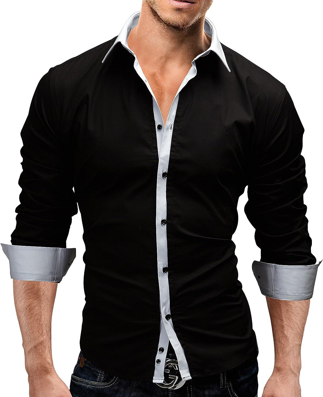 MERISH Homme Chemise Business Homme SlimFit chic et /él/égant parfait pour toutes les occasions Modell 04