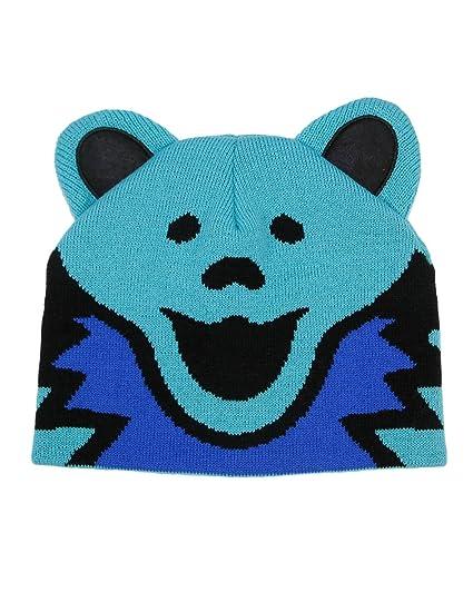 Amazon.com  Grateful Dead Bear Head Knit Beanie Skull Cap Winter Hat -  Blue  Clothing e96eadfa3719
