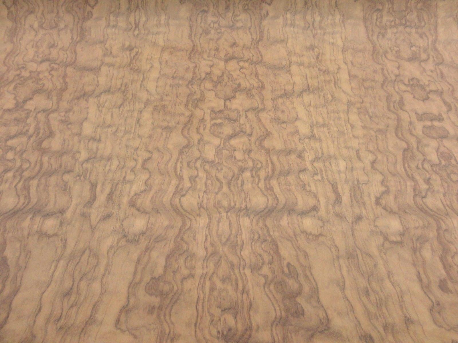 Bubinga Waterfall Figured Quilted wood veneer 48'' x 48'' with wood backer 1/25''