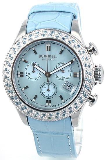 Breil BW0518 - Reloj cronógrafo de cuarzo para mujer, correa de cuero color azul (