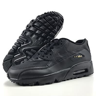 4b52104b83be Amazon.com  Nike Air Max 90 Running Shoe (AH9345 001) Black Gold ...