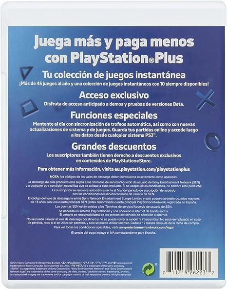 PlayStation Plus - Tarjeta De Prepago Para 365 Días (Año 2012 ...