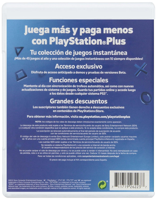 PlayStation Plus - Tarjeta De Prepago Para 365 Días (Año ...