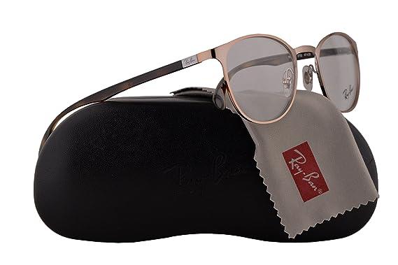 fc3606a70e Ray Ban RX6355 Eyeglasses 47-20-145 Brown w Demo Clear Lens 2732 ...